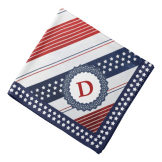 Initial Template Independence Day Diagonal Stripes Bandanas