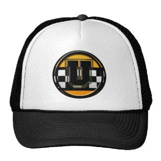 Initial U taxi driver Trucker Hats