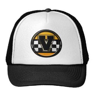 Initial V taxi driver Trucker Hats