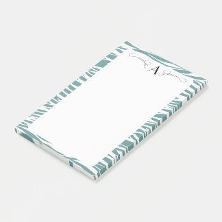 Initial Zebra print post it pad Post-it® Notes