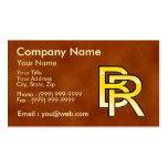 initiales  B et R en or sur fond de cuir Cartes De Visite Professionnelles