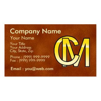 initiales C et M en or Carte De Visite