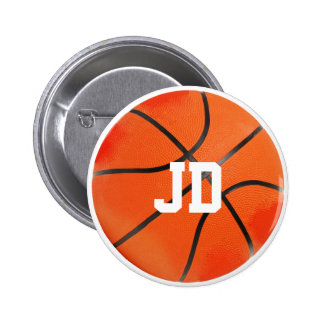 Initials | Basketball Sport Gifts 2 Inch Round Button