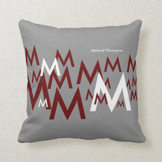 initials letters / full name customized throw pillow