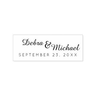 initials & special date, a simple wedding rubber stamp