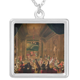 Initiation ceremony in a Viennese Masonic Silver Plated Necklace