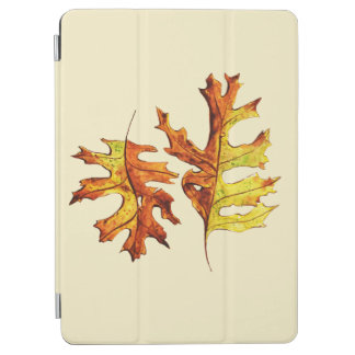 Ink And Watercolor Painted Dancing Autumn Leaves iPad Air Cover