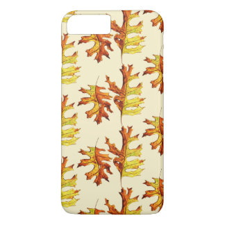 Ink And Watercolor Painted Dancing Autumn Leaves iPhone 8 Plus/7 Plus Case