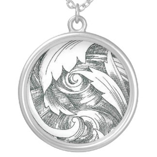 Ink Art Swirl Necklace