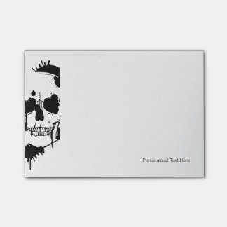 Ink Blots Creating A Skull Silhouette Post-it Notes
