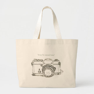 Ink: bring the moment home large tote bag