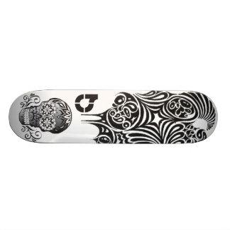 INK candy skull Skate Deck
