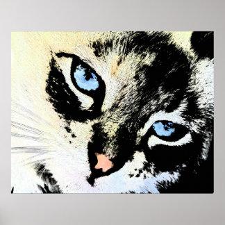 Ink Cat Canvas Prints Poster