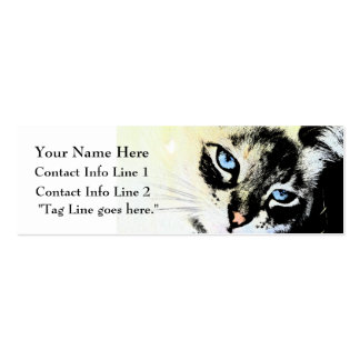 Ink Cat Profile Card Pack Of Skinny Business Cards
