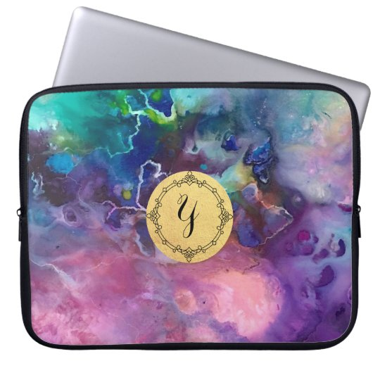 ink colourful purple gold texture pattern paint laptop