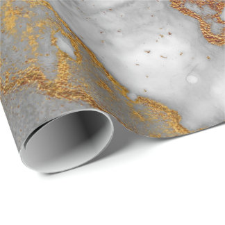 Ink Copper Gold Liquid Paint Gray Graphite White Wrapping Paper
