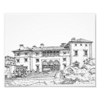 Ink drawing Vizcaya Photo Print