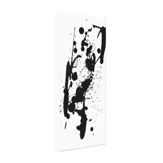 Ink Drops Stretched Canvas Prints