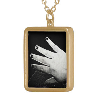 Ink Hand Necklace