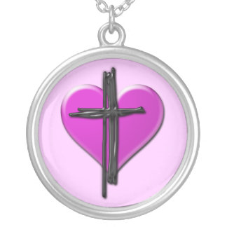 Ink Heart & Cross Necklace