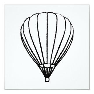 ink hot air balloon card