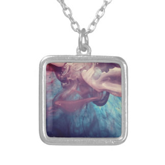 Ink in Water Abstract Photography Personalized Necklace