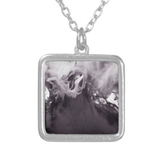 Ink in Water Photograph Ying Yang inspired Pendant