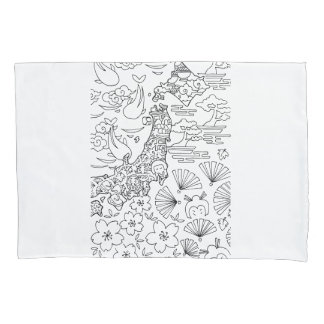 Ink: JAPAN Pillowcase