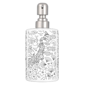 Ink: JAPAN Toothbrush Holder & Soap Dispenser Set