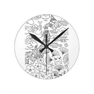 Ink: JAPAN Wall Clock