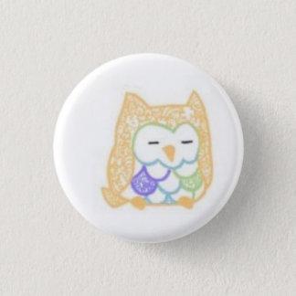 Ink: Owl (Color) 3 Cm Round Badge