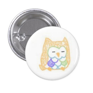 Ink: Owl (Color) 3 Cm Round Badge