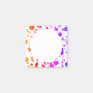 Ink Paint Splash Splatter Colorful Bright Rainbow Post-it® Notes