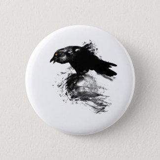 Ink Raven 6 Cm Round Badge