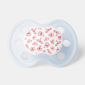 Ink Red Flowers Baby Pacifier