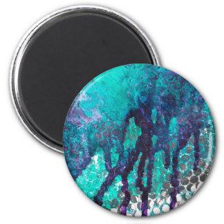 Ink Spills 6 Cm Round Magnet