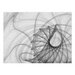 Ink Spirals and Spines Poster