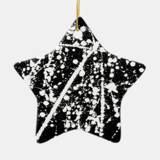 ink splash illustration ceramic star decoration