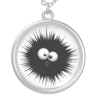Ink Splat Cartoon Round Pendant Necklace