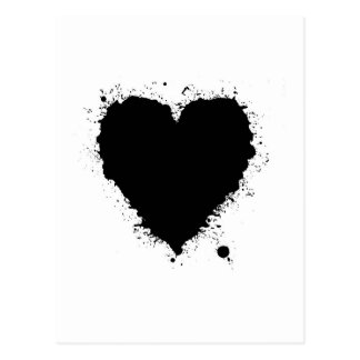 Ink Splat Heart Postcard