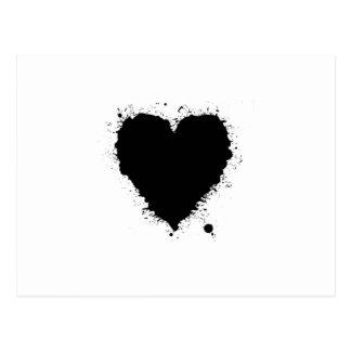 Ink Splat Heart Postcards