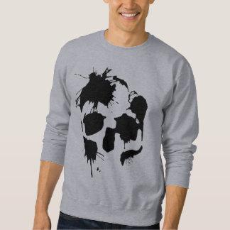 Ink Splatter Skull Sweatshirt
