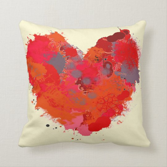 Ink Splotch Heart Cushion