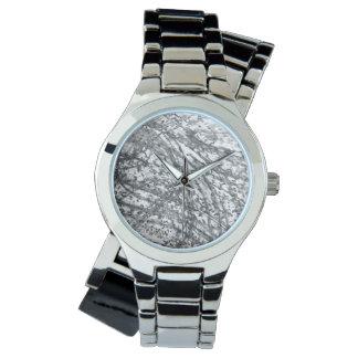Ink Wash Women's Wraparound Silver Watch