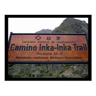 inka trail peru postcard