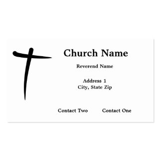 Inked Christian Cross Business Cards