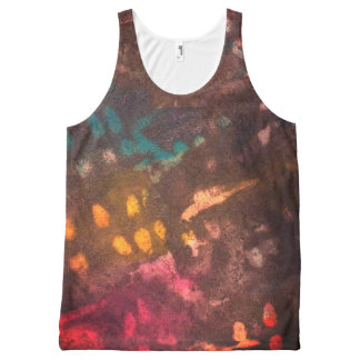 Inked grunge All-Over print tank top