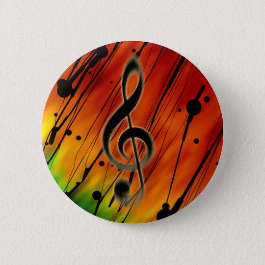 Inked Music 6 Cm Round Badge