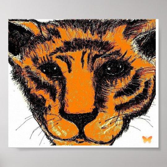 Inked Tiger Poster