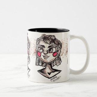 Inktober 2017 Day 14 Two-Tone Coffee Mug